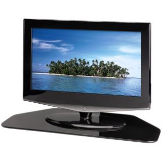 Hama LCD-/Plasma-TV-Drehteller, Glas, Schwarz