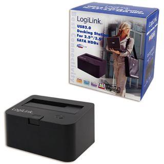 LogiLink QP0001 USB 2.0 Docking Station für 2,5 + 3,5 Zoll S-ATA