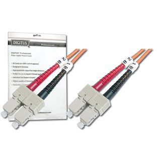 (€4,45*/1m) 2.00m Digitus LWL Single-Mode Patchkabel 62,5/125 µm OM1 SC Stecker auf SC Stecker Orange LSOH