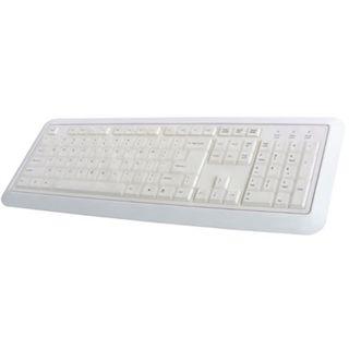 Perixx Periboard 511 Water Proof Tastatur Weiß Deutsch USB