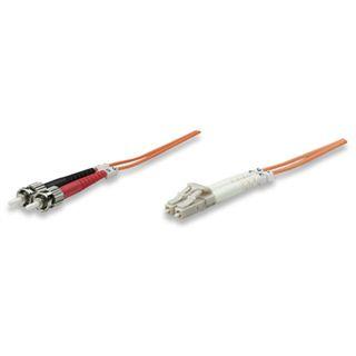 (€1,09*/1m) 10.00m Intellinet LWL Duplex Anschlusskabel 50/125 µm OM2 LC Stecker auf ST Stecker Orange LSOH / Multimode