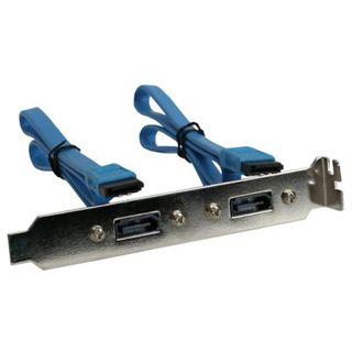 InLine SATA Slotblech 2x SATA - 30cm
