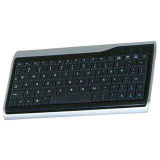 Perixx Periboard 405 Mini Tastatur Schwarz/Silber Deutsch USB