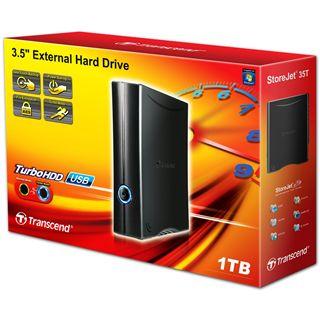 "1000GB Transcend StoreJet Turbo TS1TSJ35T 3.5"" (8.9cm) USB 2.0 schwarz"