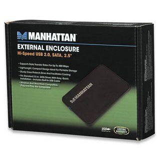 """Manhattan 130042 2.5"""" (6,35cm) USB 2.0 schwarz"""