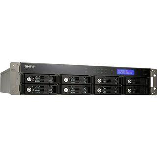 """QNAP Turbostation TS-809U-RP NAS System für 8x3,5"""" SATA II HDD Schwarz"""
