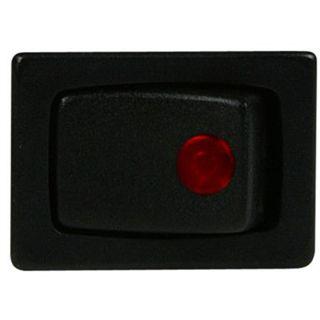 Lamptron Kippschalter eckig - red LED
