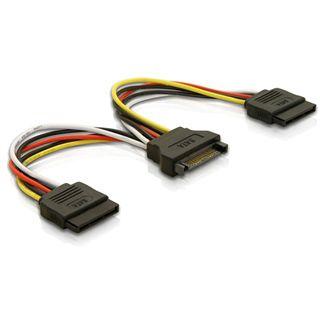 (€32,67*/1m) 0.15m Delock SATA Y-Stromadapterkabel SATA Strom Buchse auf 2xSATA Strom Stecker Schwarz