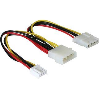 (€19,50*/1m) 0.20m Delock Stromkabel Adapterkabel SATA Strom Stecker auf Molex Buchse + 4 Pin Floppy Schwarz