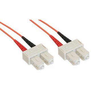 (€1,10*/1m) 20.00m InLine LWL Duplex Patchkabel 62,5/125 µm OM2 SC Stecker auf SC Stecker Orange