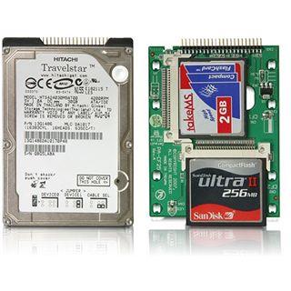 """Delock 2,5"""" IDE 44pin auf 2x CF Adapter für Speicherkarten (18171)"""