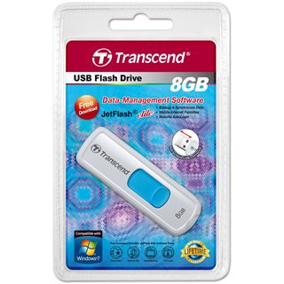 8 GB Transcend JetFlash 530 weiss USB 2.0