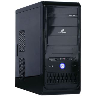 ATX Cooltek K-Series K2 Full Black Midi Tower o.NT Schwarz