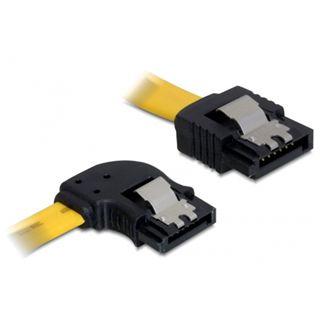 (€13,00*/1m) 0.30m Delock SATA 3Gb/s Anschlusskabel gewinkelt links SATA Stecker auf SATA Stecker Gelb Metall
