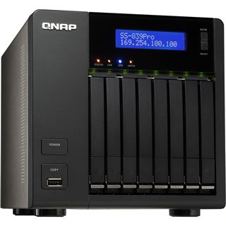 QNAP Turbo Station SS-839 Pro, 2x Gb LAN schwarz