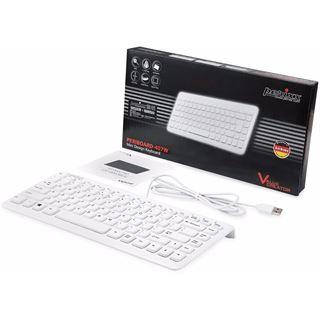 Perixx Periboard-407 USB Deutsch weiß (kabelgebunden)