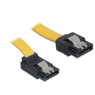 0.70m Delock SATA 3Gb/s Anschlusskabel gewinkelt SATA Stecker auf SATA Stecker Gelb Metal