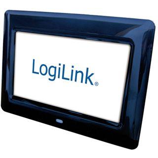 """7,0"""" (17,78cm) LogiLink Digitaler Fotorahmen PX0014 480x234 SD Schwarz"""