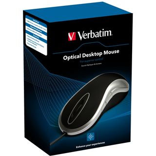 Verbatim Mouse Desktop Optische Maus Schwarz USB