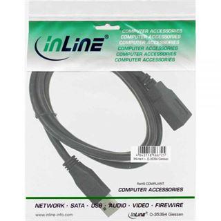(€9,80*/1m) 0.50m InLine USB3.0 Verlängerungskabel USB A Stecker auf USB A Buchse Schwarz