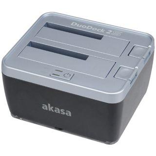 """Akasa DuoDock 2S USB 3.0 Dockingstation für 2.5"""" und 3.5"""" Festplatten (AK-DK02U3)"""