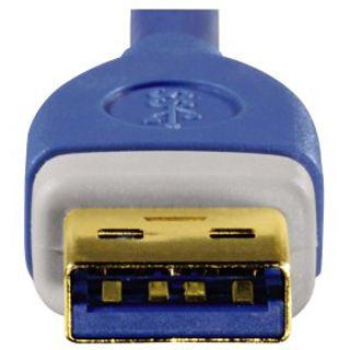 (€6,61*/1m) 1.80m Hama USB3.0 Anschlusskabel doppelt geschirmt USB A Stecker auf USB mikroB Stecker Blau vergoldet