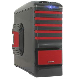ATX Cooltek Ultimate Case Midi Tower o.NT Schwarz/Rot