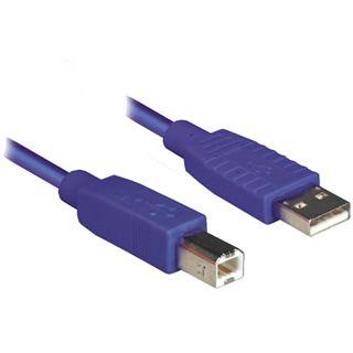 3.00m Good Connections USB2.0 Anschlusskabel USB A Stecker auf USB B Stecker Violett