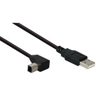 (€1,63*/1m) 3.00m Good Connections USB2.0 Anschlusskabel gewinkelt USB A Stecker auf USB B Stecker Schwarz