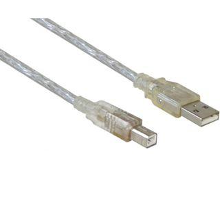 1.00m Good Connections USB2.0 Anschlusskabel USB A Stecker auf USB B Stecker Transparent