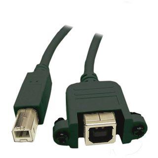 0.50m Good Connections USB2.0 Verlängerungskabel USB B Stecker auf USB B Buchse Schwarz Einbaubuchse