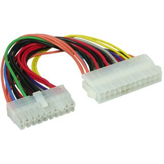 0.10m Good Connections ATX Stromadapterkabel intern 24pol Buchse auf 20pol Stecker