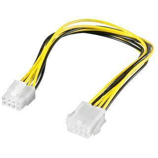 (€24,50*/1m) 0.20m Good Connections PCI Express Verlängerungskabel intern 8pol EPS Stecker auf 8pol EPS Buchse Schwarz/Gelb