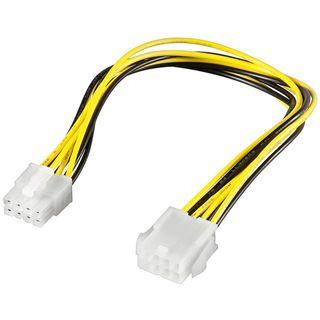 (€19,50*/1m) 0.20m Good Connections PCI Express Verlängerungskabel intern 8pol Stecker auf 8pol Buchse Schwarz/Gelb