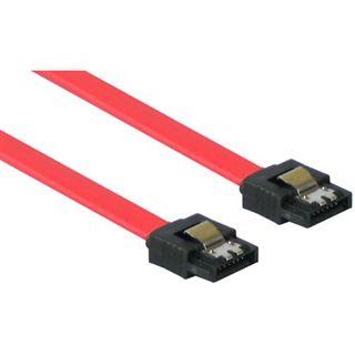 (€13,00*/1m) 0.30m Good Connections SATA 3Gb/s Anschlusskabel SATA Stecker auf SATA Stecker Rot mit Arretierung