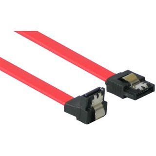1.00m Good Connections SATA 3Gb/s Anschlusskabel SATA Stecker auf SATA Stecker Rot gewinkelt unten/mit Arretierung