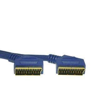 3.00m Good Connections SCART Anschlusskabel HighQuality 20pol Stecker auf 20pol Stecker Schwarz