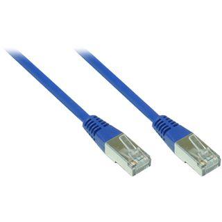 (€13,00*/1m) 0.30m Good Connections Cat. 5e Patchkabel FTP RJ45 Stecker auf RJ45 Stecker Blau
