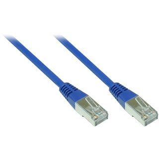 4.00m Good Connections Cat. 5e Patchkabel FTP RJ45 Stecker auf RJ45 Stecker Blau