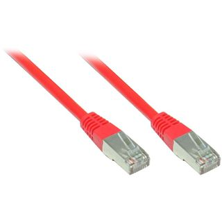 10.00m Good Connections Cat. 5e Patchkabel F/UTP RJ45 Stecker auf RJ45 Stecker Rot