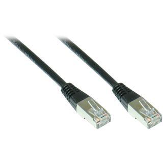 15.00m Good Connections Cat. 5e Patchkabel FTP RJ45 Stecker auf RJ45 Stecker Schwarz