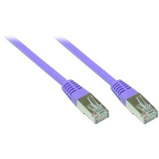 3.00m Good Connections Cat. 5e Patchkabel FTP RJ45 Stecker auf RJ45 Stecker Violett