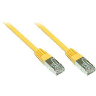 20.00m Good Connections Cat. 5e Patchkabel F/UTP RJ45 Stecker auf RJ45 Stecker Gelb