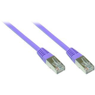 (€7,80*/1m) 0.50m Good Connections Cat. 6 Patchkabel S/FTP PiMF RJ45 Stecker auf RJ45 Stecker Violett