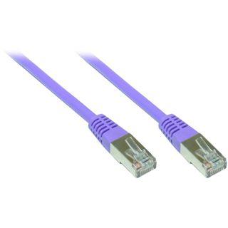 (€1,95*/1m) 2.00m Good Connections Cat. 6 Patchkabel S/FTP PiMF RJ45 Stecker auf RJ45 Stecker Violett