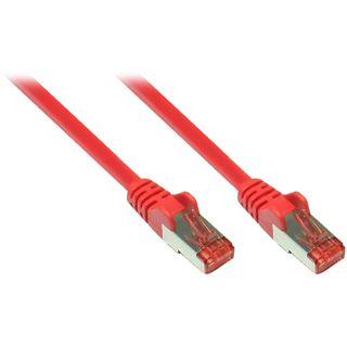 (€4,90*/1m) 1.00m Good Connections Cat. 6a Patchkabel S/FTP PiMF RJ45 Stecker auf RJ45 Stecker Rot halogenfrei