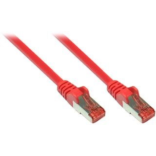 (€1,63*/1m) 3.00m Good Connections Cat. 6a Patchkabel S/FTP PiMF RJ45 Stecker auf RJ45 Stecker Rot halogenfrei