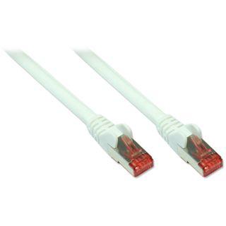 (€1,19*/1m) 7.50m Good Connections Cat. 6a Patchkabel S/FTP PiMF RJ45 Stecker auf RJ45 Stecker Weiß halogenfrei