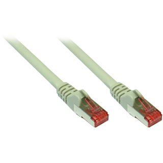 (€0,89*/1m) 10.00m Good Connections Cat. 6a Patchkabel S/FTP PiMF RJ45 Stecker auf RJ45 Stecker Grau halogenfrei
