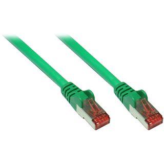 10.00m Good Connections Cat. 6a Patchkabel S/FTP PiMF RJ45 Stecker auf RJ45 Stecker Grün halogenfrei